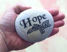 A personal favorite from my Etsy shop https://www.etsy.com/listing/185167518/4-inch-lite-gray-engraved-etched-hope