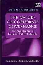The nature of corporate governance : the significance of national cultural identity