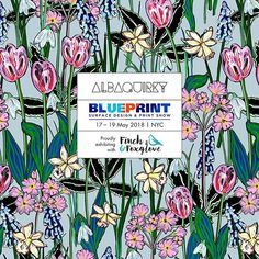 Proud to be exhibiting with my @finchandfoxglove girls at @blueprintshows NYC in May. We are showing at show 1 May 17-19th. Come and say hello!  #albaquirky #finchandfoxglove #blueprintshow #artlicensing #printandpattern #pattern #patterndesign #floral #springflowers #albaquirkypt
