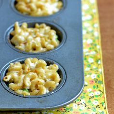 These single-portion macaroni and cheese muffins are a great healthy dinner for evenings on the go. They're quick and easy to make.