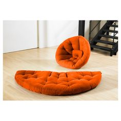 Dartmouth Convertible Futon Chair in Orange