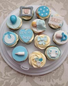 ♥ Cupcakes for baby boy