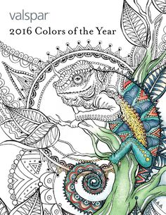 Valspar 2016 Colors of the Year Color Book  An accompanying Coloring Book to go along with the Valspar 2016 Colors of the Year Trend Report.