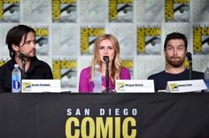 "Antony Starr Photos Photos - (L-R) Actors Justin Chatwin, Megan Ketch and Antony Starr attend CBS Television Studios Block including ""Scorpion,"" ""American Gothic"" and ""MacGyver"" during Comic-Con International 2016 at San Diego Convention Center on July 21, 2016 in San Diego, California. - Comic-Con International 2016 - CBS Television Studios Block Including ""Scorpion,"" ""American Gothic"" And ""MacGyver"""