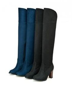 7e4a4243254 Knee high stylish heel boots for the modern fashionista Can roll it down for  different styles Inner zipper for easy access Comfortable breathable upper  Made ...