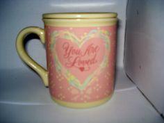 Hallmark Mug w/lid Always remember how much your loved 1986 mug mates pink heart | eBay Vintage $2.99