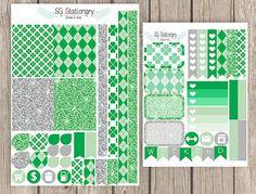 St. Patrick's Planner Stickers March Erin Condren by SGStationery