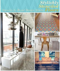 Stylish Stenciled Floor Ideas - Something's afoot at Royal Design Studio! We've been oohing and ahhing lately over pretty stenciled and painted floors created with our stencil collections.