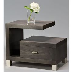 Cantilever end table - Contemporary Mid-Century Modern Side & End Tables - Dering Hall Bedroom Bed Design, Bedroom Furniture Design, Bed Furniture, Home Decor Furniture, Diy Home Decor, Bedroom Decor, Furniture Stores, Bedside Table Design, Side Tables Bedroom
