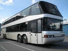 Then the Neoplan Megaliner, a Quad Axle, 15m long Double Decker behemoth powered by a V12 Engine!!