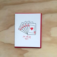 One blank card, letterpress printed, with coordinating envelope. Size Hand printed on an antique letterpress in a cozy little studio. Friend Valentine Card, Valentine Day Cards, Homemade Valentines, Valentine Crafts, Love Cards, Diy Cards, Big Birthday Cards, Hubby Birthday, Mothers Day Drawings