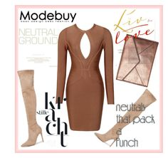 """Bandage Dresses"" by modebuy on Polyvore featuring Kendall + Kylie, Rebecca Minkoff, neutrals and BandageDresses"