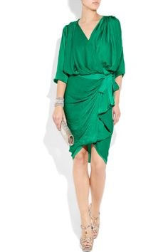 gorgeous dress, gorgeous green...