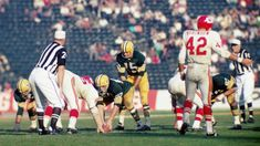 The Green Bay Packers and Kansas City Chiefs compete during Super Bowl I on January (Credit: Kidwiler Collection/Diamond Images/Getty Images) Super Bowl I, Bouncy Ball, American Children, Championship Game, Sick Kids, Professional Football, Kansas City Chiefs, Green Bay Packers, Trivia