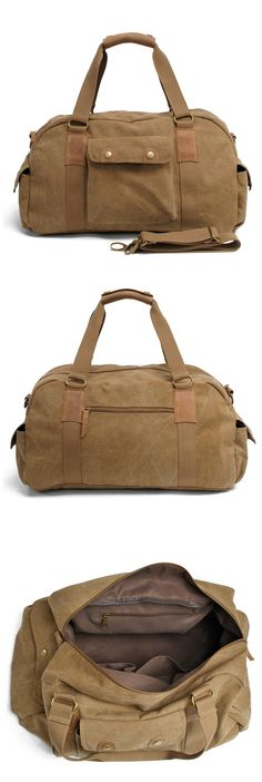 Canvas Travel Tote Duffel Shoulder Handbag Weekend Bag Features: • Fabric Lining • Inside zipper pocket • It can hold a 13'' laptop, iPad, A4 document files, magazines, etc. ********************** Spe