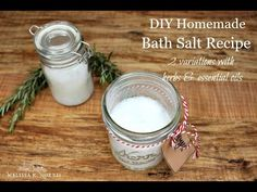 Easy homemade DIY bath salt recipe with essential oil and herb options to create a luxurious bath time experience with simple ingredients you likely have on hand. Bath Salts Recipe, No Salt Recipes, Drying Herbs, Kraut, Recipe Using, How To Do Nails, Herbalism, Essential Oils, Homemade