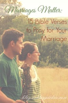 """""""When I feel like my marriage is struggling or going through a rough phase, I know that one of the best ways to make my marriage better is to spend time praying for my husband and praying for our marriage."""" 15 Bible Verses to Pray for Your Marriage Marriage Thoughts, Marriage Prayer, Godly Marriage, Save My Marriage, Marriage And Family, Marriage Relationship, Happy Marriage, Marriage Advice, Bible Verses On Marriage"""