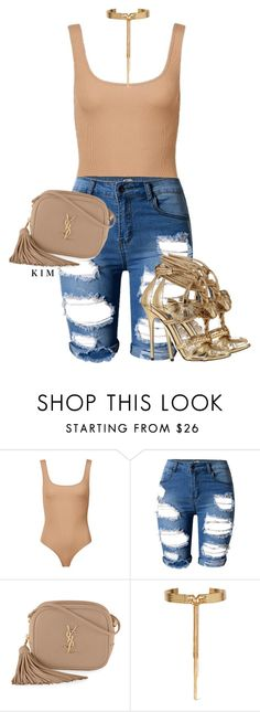 """""""Untitled #3216"""" by kimberlythestylist ❤ liked on Polyvore featuring Yves Saint Laurent and Eddie Borgo"""