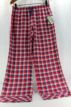 Woolrich Pemberton Lounge Pant M Women s Sleepwear Red Purple Plaid Relaxed  NWT  Woolrich   a4000ffbc