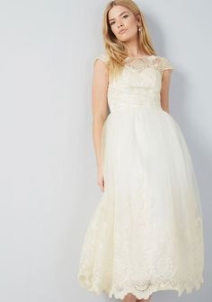 c719936f3335 Chi Chi London Sparkling Celebration Maxi Dress in Ivory in 10 - Cap Fit &  Flare