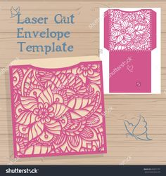 Wedding Invitation Or Greeting Card With Abstract Ornament. Vector Envelope Template For Laser Cutting. Stensil. Paper Cut Card With Silhouette. - 493871701 : Shutterstock