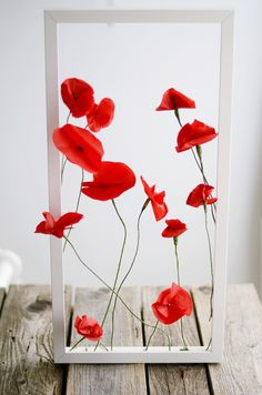 DIY - Mohnblüten Papierblumen aus Seidenpapier