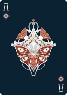 "Дивные игральные карты в стиле ювелирных изделий Art Nouveau. Nouveau PERLE Playing Cards  ""playing cards inspired by Art nouveau jewelry, depicting the original heroes & heroines from the 16th c. French decks  Bona fide Playing Cards, Barcelona, Spain"""