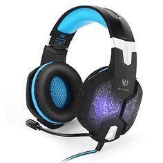 [Dernière Version LED Casque Gamer] EasySMX G1000 Gaming Micro-Casque PC Filaire Ecouteur 3.5mm Audio Jack avec changeable LED Couleurs…