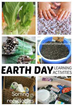 Simple Earth Day Activities to teach young children how to help the planet. Hands on Earth Day activities show kids how they can protect the Earth.
