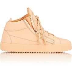 Giuseppe Zanotti Leather Double-Zip Sneakers (2.815 BRL) ❤ liked on Polyvore featuring shoes, sneakers, colorless, lace up sneakers, zipper sneakers, polish leather shoes, polish shoes and shiny shoes