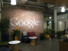 Here is a picture of the Google Pittsburgh office with a nice brick wall with Google written on the wall in white chalk. The picture was posted on Flickr by James Lin.