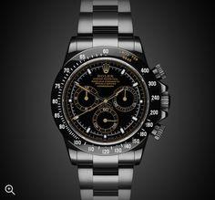 Uniquely customized DLC/PVD black Rolex watches from Titan Black, Rolex & luxury watch customization specialist in UK. Rolex Watches For Men, Best Watches For Men, Fossil Watches, Luxury Watches For Men, Cool Watches, Wrist Watches, Rolex Datejust Ii, Rolex Submariner No Date, Black Rolex
