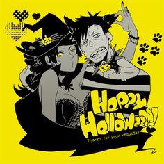 fuckyeahgangsta:  Kohske's 2012 Halloween illustration. Happy Halloween, guys! ♥