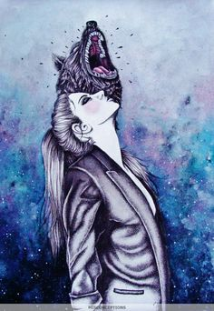 "Misconceptions "" she wolf ""  black & blue"