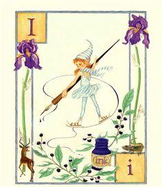 I...Ink...Iris by Lauren Mills Elfabet
