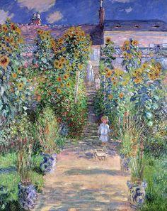 Le Jardin de Monet à Vétheuil (C Monet - W 685),1881.