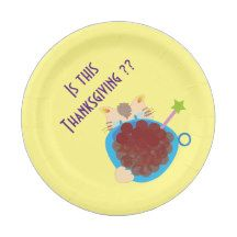 Is this Thanksgiving?? 7 Inch Paper Plate