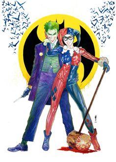 Harley Quinn and Joker by Garrie Gastonny