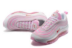 7da4e7fea6301 Cheap Nike Air Max 97 GS Pink White 313054 The Air Max 97 is a Nike running  shoe designed by Christian Tresser.