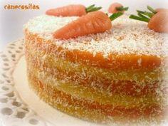 Tarta de zanahorias y coco 3 | https://lomejordelaweb.es/ Pinterest ^^ | https://pinterest.com/Ilovecocinar/