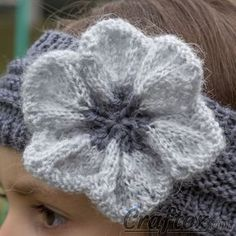 Flower A headband is a stylish, convenient and practical accessory. Flower A headband is a stylish, convenient and practical accessory. It is very easy and fast to knit it. This headband w. Free Knitted Flower Patterns, Knitted Headband Free Pattern, Crochet Flower Hat, Knitting Patterns Free, Free Knitting, Pattern Flower, Knit Flowers, Knitting Blogs, Small Knitting Projects