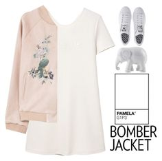 """""""Bomber Jacket"""" by grunge-alien ❤ liked on Polyvore featuring MANGO, adidas, The Elephant Family, PAM and bomberjackets"""