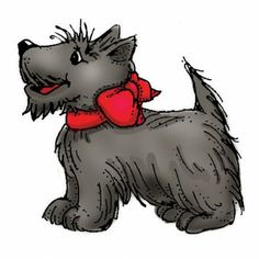 Scottish Terrier Art Impressions Dogs Cling Rubber Stamp E995