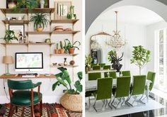 Love the shelves in this DIY office space.
