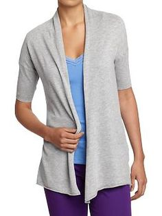 I bought this last week.  Women's Fine-Gauge Open-Front Cardis | Old Navy