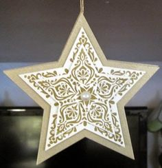Crafty Maria's Stamping World: Star Ornament