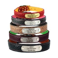 Personalized Super Soft Bison Leather Dog Collars