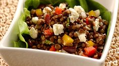 Tre Stelle Feta Lentil Salad packs a powerhouse of nutrition and flavour! #ALoveAffairWithCheese #Salad