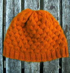 make an orange dimple hat.
