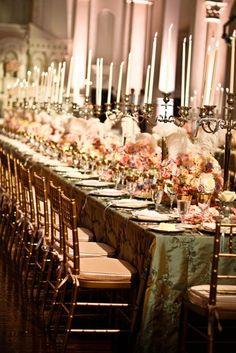 An extravagant Marie Antoinette / Versailles inspired French wedding - beautiful! Wedding Receptions, Wedding Table, Wedding Events, Reception Table, Marie Antoinette, Event Planning, Wedding Planning, Wedding Prep, Wedding Bells
